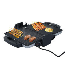 Electric Contact Grill Dual Plate Sandwich Stainless BBQ Kitchen Cooking Portabl