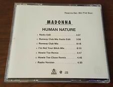 Human Nature by Madonna CD Single 3 tracks promo only RARE!