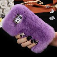 Luxury Soft Furry Case Phone Case for Samsung Rabbit Fur Shockproof Cover Bumper