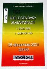 SUGAR MINOTT billet ticket concert FRANCE Montpellier 05/12/2001 * Reggae