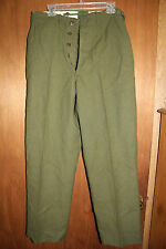 Military Field Trousers 100% Wool Olive Drab  Extremely Warm Army Issue 30 x 32