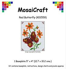 MosaiCraft Pixel Craft Mosaic Art Kit 'Red Butterfly' (Like Paint by Numbers)