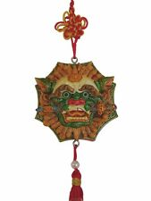 Feng Shui Chinese Charm of Lion Head with Sword and Bagua