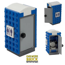 LEGO Portable Loo - Mobile Toilet - Lego CITY builds - Custom printed pieces NEW