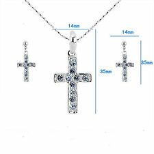 "[Austria Rhinestone] Elegant ""Latin Cross"" Lady Rhinestone Jewelry Set #JS100213"