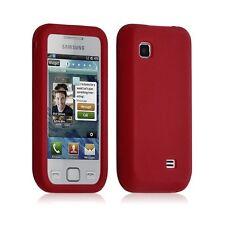 Housse coque étui silicone pour Samsung S5750 Wave 575 couleur rouge