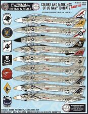 1/48 Furball F-14 Colors & Markings Part III decals for Hasegawa or Tamiya kit