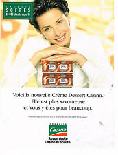 PUBLICITE ADVERTISING 074  1996  MAGASINS CASINO    les cremes dessert 2 YOURTS