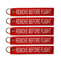 5 PCS REMOVE BEFORE FLIGHT KEY CHAIN RED AVIATION TAGS MOTORCYCLE PILOT CREW TAG