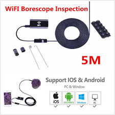 Waterproof WiFI Endoscope Inspection For iPhone Android 5M 6LED Borescope Camera