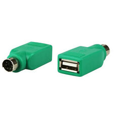 2*hochwertig günstig Konverter USB-Buchse zu PS/2-Stecker Maus-Anschluss Adapter