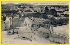 cpa Rare 34 - MONTPELLIER (Hérault) Perspective prise de l'ARC de TRIOMPHE