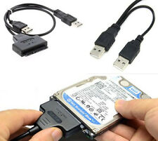 SATA 7+15 Pin 22Pin to USB 2.0 Cable Adapter For 2.5 Laptop Hard Drive HDD Disk