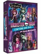 DvD MONSTER HIGH - UNA FESTA MOSTRUOSA + 13 DESIDERI (Box 2 Dvd) ......NUOVO