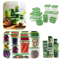 17 Piece Set IKEA PRUTA Plastic Food Kitchen Fridge Lunch Storage Boxes-BPA Free
