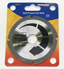 "115mm (4.1/2"") MULTI PURPOSE ANGLE GRINDER SAW BLADE - For Wood, Plastics etc"