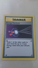 Energy Retrieval Pokemon Card UNCOMMON Trainer [BASE SET]