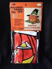 """Vintage Hi-Flier GIANT HALLOWEEN Window Pumpkin Decoration 30"""" x 40"""" unopened"""