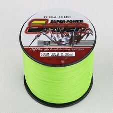 500m Spider 30LB Fluorescent Green 100%PE Dyneema Braided New Fishing Line