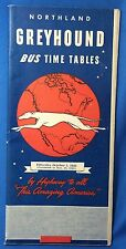 1945 Original Vintage Northland GREYHOUND BUS Time Tables