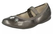New��Clarks ��Tizz Rona JNR Silver Jewel Girls Shoes UK 2.5 G Wide Fit (35 EU)
