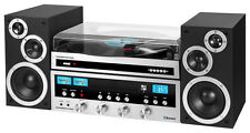 Classic CD 50W Stereo System with Bluetooth and USB Turntable