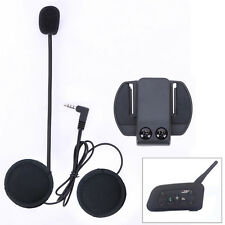Wired Headset mic/speaker+Clip mount for V6 Motorcycle Bluetooth Helmet Intercom