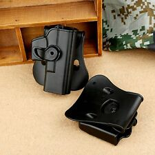Tactical Retention Roto Pistol Holster Double Magazine Pouch Combo for Glock 17