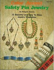Color Accent Safety Pin Jewelry Margaret Abrams Beading Instructions OOP NEW