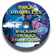 OVER 750 ROCK DRUMLESS BACKING TRACKS DRUMS DRUMMER