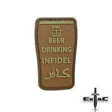 BEER DRINKING INFIDEL PVC VELCRO MILITARY MORALE PATCH- TACTICAL DEVGRU