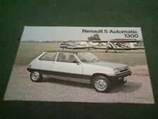1978 / 1979 RENAULT 5 AUTOMATIC - UK SINGLE SHEET BROCHURE