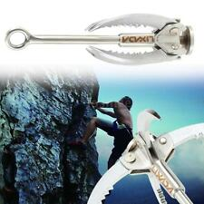 Outdoor Survival Grappling Hook Climbing 4 Claws Steel Folding Load 350kg L E7G3