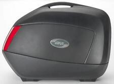 GIVI - V35NA - V35 Side Hard Cases with Red Lenses, Matte Black