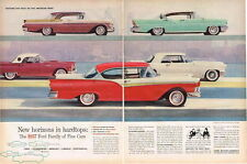 Original 1957 Ford Thunderbird Lincoln 2 page paper ad 21 x 14 inch Tavern Trove