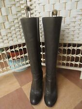 L'Autre Chose Buttery Leather Khaki Green Leather Knee High Boots 37 UK4