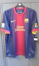 Barcelona Home Shirt 2012/13 Short Sleeve Shirt XXL 2XL Spain BNWT