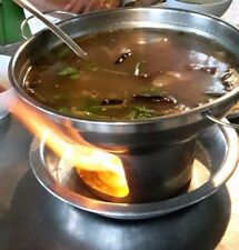 NEW ROCKET STAINLESS STEEL COOKWARE THAI SHABU HOT POT SILVER SOUP#Free 1spoon#