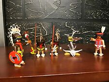 Playmobil 3732 - WESTERN INDIANS BUFFALO RAIN DANCERS - 90% Complete - NO BOX!!