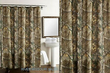 """RealTree Xtra Green Camo Design Shower Curtain, Dimensions: 70"""" x 72 -NEW"""