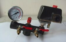 Newest Air Compressor Pressure Control Switch +Regulator Valve Gauges