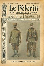 Portrait Soldat & Sergent 106é Régiment Tenue Uniforme Réséda 1911 ILLUSTRATION