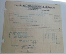The Mooney Biscuit & Candy Co. Receipt - Vancouver 1916 - B.C. Packers