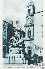 Altamura (Bari) Monumento ai Martiri del 1799 e Torre f.p.