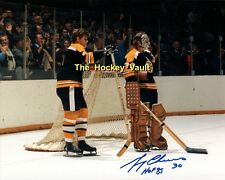 #4 Bobby ORR & CHEEVERS SIGNED Watch a FIGHT Boston BRUINS Custom LAB 8X10 SHARP