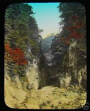 GLASS MAGIC LANTERN SLIDE A VALLEY C1910 JAPANESE JAPAN