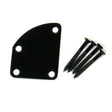 Universal Guitar Neck Plate For Strat tele jaguar Deluxe Style ,Black