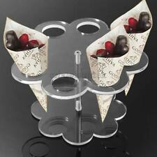 ICE CREAM CONE HOLDER CAKE STAND 8 HOLDS WEEDING PARTY BUFFET DISPLAY SHELF