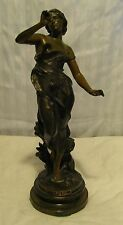 antique  Daphne bronze? metal statue, figure 14 inches