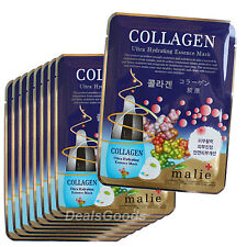 Collagen 9pcs Face Mask Pack Sheet Moisture Essence Facial Skin Care Lots Korean